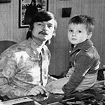 Andrei Tarkovsky with his son