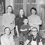 Larisa and Olga Kizilova, Andrei and Andrei Jr. Tarkovsky, Maria Ivanova mother of Andrei, Anna Semyonovna mother of Larisa
