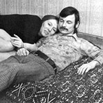 Andrei Tarkovsky with his wife Larisa Tarkovskaya