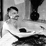 Andrei Tarkovsky on the set of The Mirror