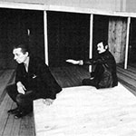 Boris Nikiforov and Andrei Tarkovsky on a rehearsal of Hamlet