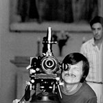 Andrei Tarkovsky on the set of Voyage in Time