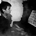Andrei Tarkovsky playing the piano